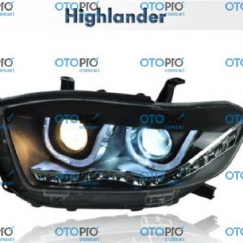 Đèn pha độ LED nguyên bộ cho xe Toyota Highlander 2009-2010 TLZ
