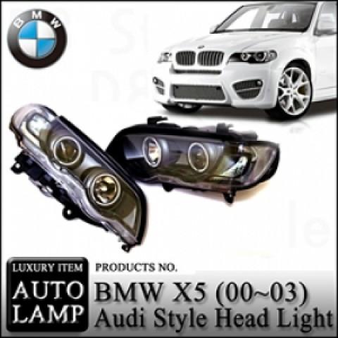 Đèn pha LED nguyên bộ cả vỏ BMW X5 E53
