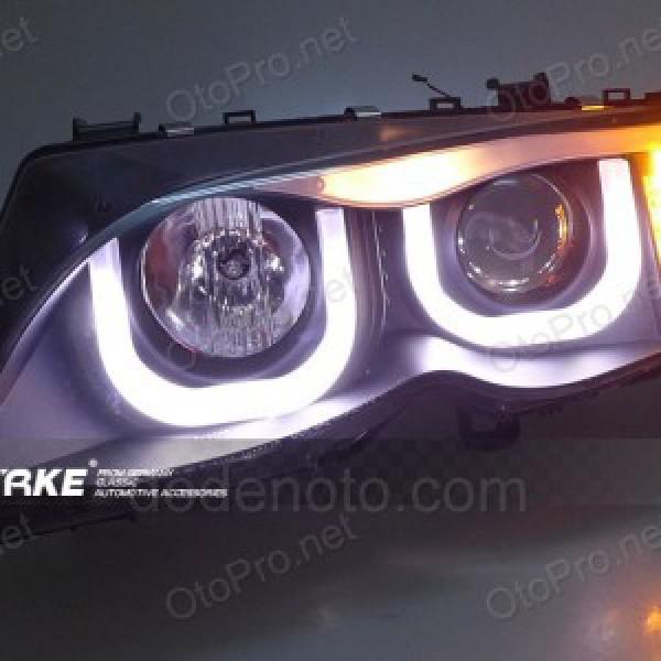 Đèn pha độ LED nguyên bộ cho BMW E46 2001-2004 mẫu 2