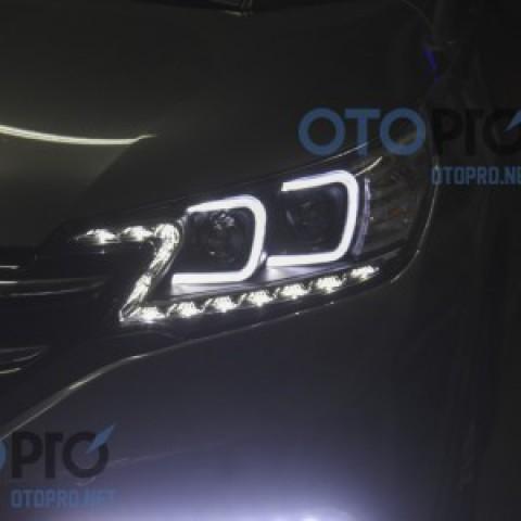 Đèn pha độ LED nguyên bộ xe Honda CRV 2012-2014 mẫu chữ C