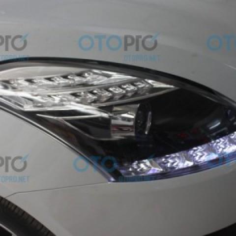 Đèn pha độ nguyên bộ cho Swift mẫu LED hạt kiểu Mercedes