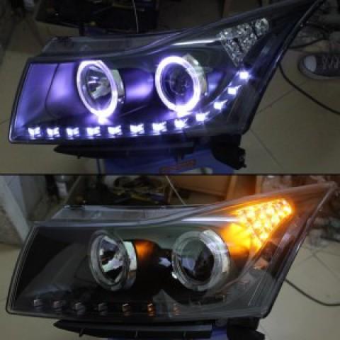 Đèn pha độ LED nguyên bộ dành cho xe Lacetti Cruze phiên bản 4
