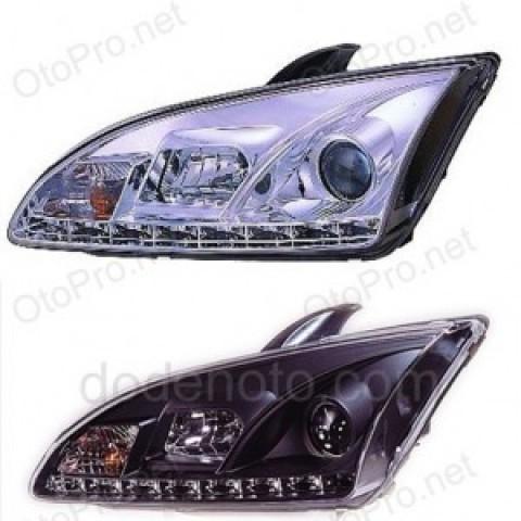 Đèn pha độ LED nguyên bộ cho xe Focus đời 05-08 mẫu 3