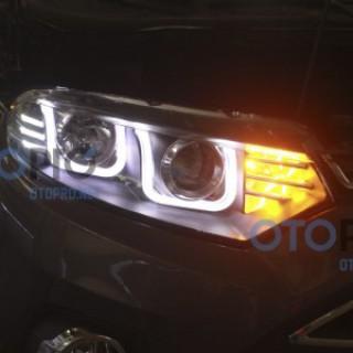 Đèn Pha Độ Led Nguyên Bộ cho xe Ford Ecosport 2014 mẫu BMW