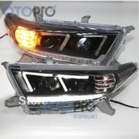 Đèn pha độ LED nguyên bộ xe Highlander 2012-2013 mẫu F