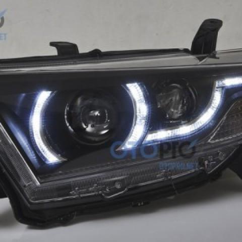 Đèn pha LED nguyên bộ Highlander 2012-2013 mẫu Ranger Rover Evoque