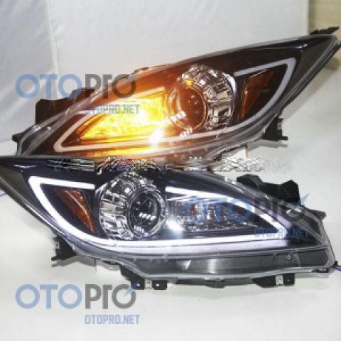 Đèn pha độ LED nguyên bộ cho xe Mazda 3 đời 2010