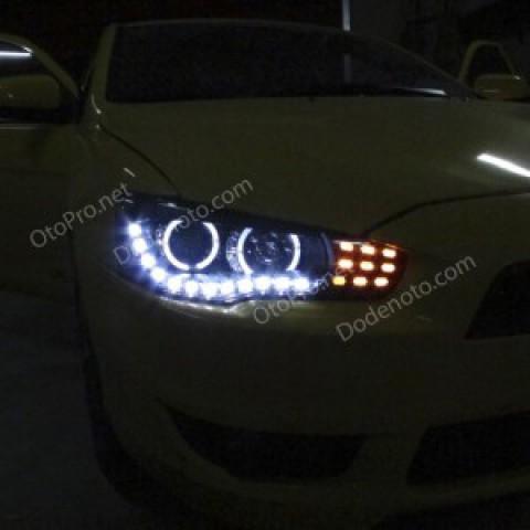 Đèn pha độ LED nguyên bộ Mitsubishi Lancer Ex 2005
