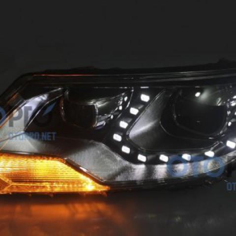Đèn pha độ LED nguyên bộ cho xe Tiguan mẫu LED hạt