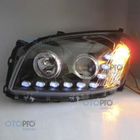 Đèn pha độ LED nguyên bộ cho xe Toyota Rav 4 mẫu 3