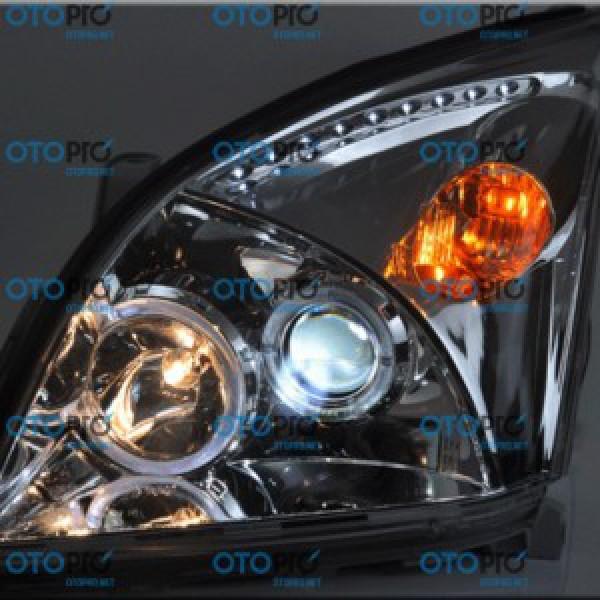 Đèn pha độ LED nguyên bộ cho xe Toyota Prado 2002-2009
