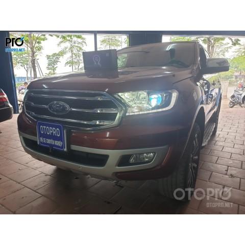 Ford Everest 2020 độ Bi Led Omega Domax Laser