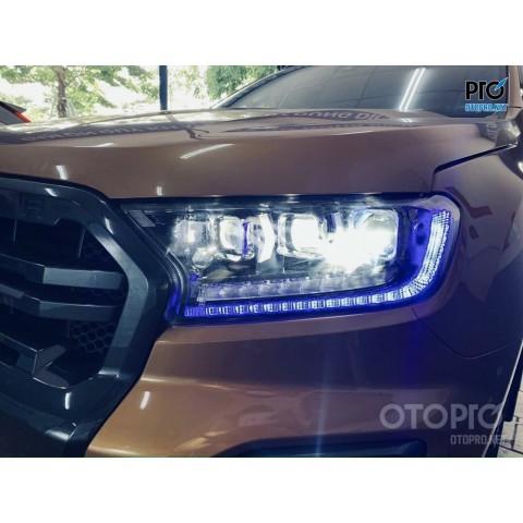 Ford Ranger 3.2 độ đèn led full trước sau, màn hình Zestech z800pro+