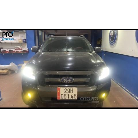 Ford Ranger WT 2017 lắp sub điện DRaudio DR10A & loa center