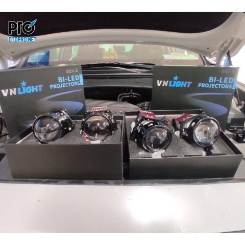 Hyundai Santafe 2019 nâng cấp 4 Bi Led VN Light gen 2