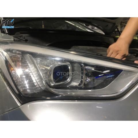Hyundai Santafe 2013 độ bi Domax X-LED Pro