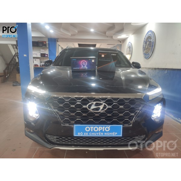 Hyundai Santafe 2020 độ Bi Laser Domax Omega, Bi Led Domax Pro