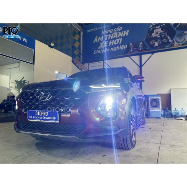Hyundai Santafe 2020 độ bi laser Domax Omega - Bi Led VN Light Gen 2 - Led nội thất