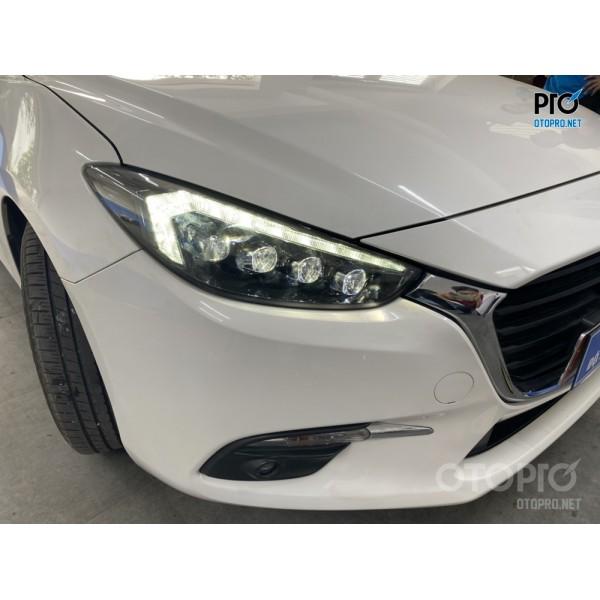 Mazda 3 lắp đèn pha led nguyên bộ bugati full led