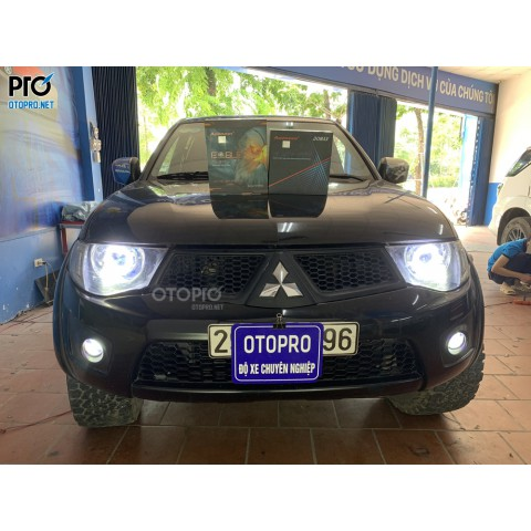 Mitsubishi Triton 2011 độ bi pha Domax X-LED Pro & Bi gầm Aozoom Eagle