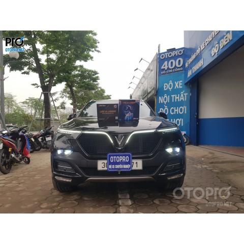 VinFast Lux SA độ Bi Led Laser Henwei L91 & Tirtim s600