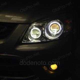 Độ đèn bi xenon, angel eyes LED, bi gầm cho Ford Escape
