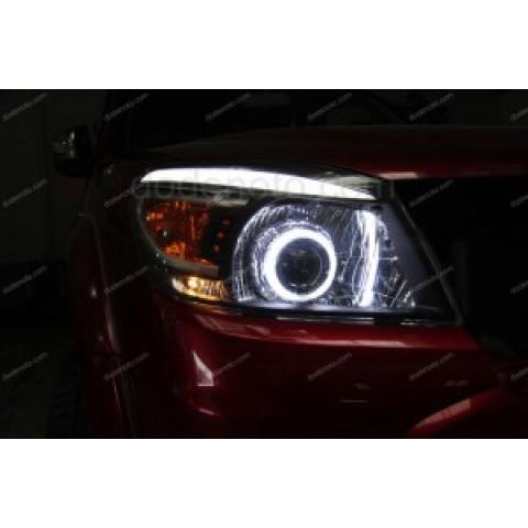 Độ đèn bi xenon, angel eyes, LED mí khối cho xe Ford Everest
