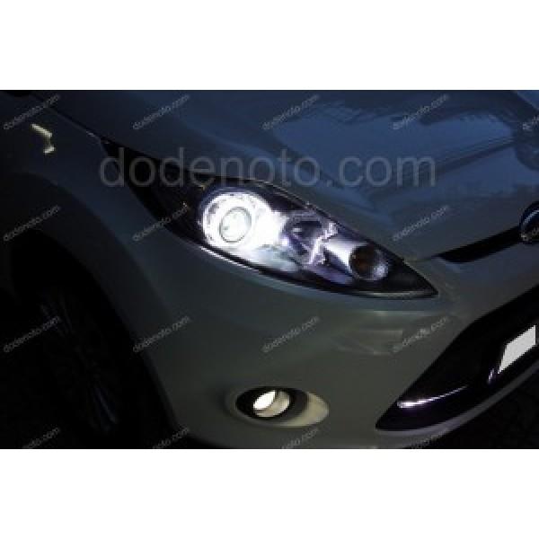 Độ đèn bi xenon, angel eyes, đèn gầm LED cho xe Ford Fiesta