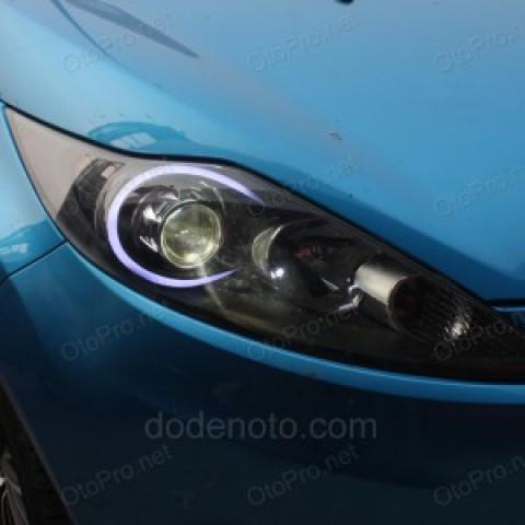 Độ đèn bi xenon, projector, LED khối cho xe Ford Fiesta