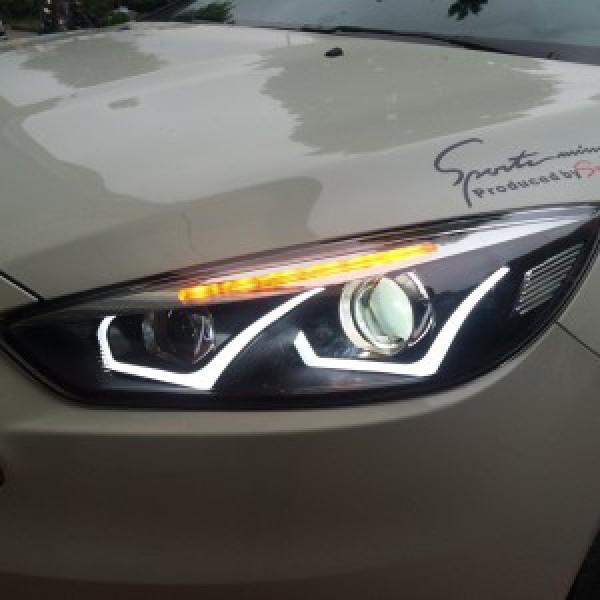 Focus 2014 lắp đèn pha nguyên bộ mẫu mercedes