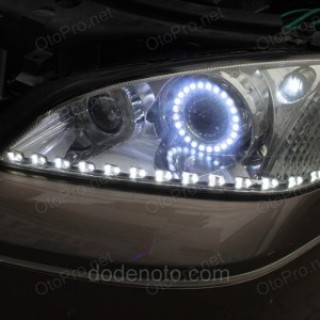 Độ bi xenon, angel eyes lens, LED mí SF Block cho xe Mondeo