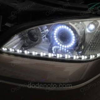 Độ bi xenon, angel eyes lens, LED mí SF Block cho xe Mondeo