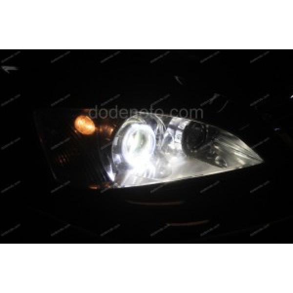 Độ đèn bi xenon, angel eyes LED kiểu BMW cho xe Ford Mondeo