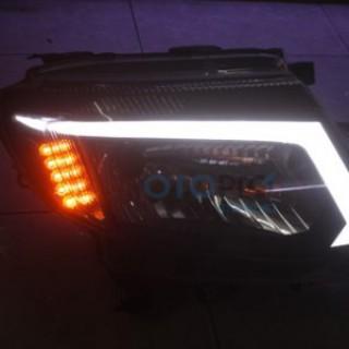 Độ đèn pha LED mí khối cho xe Ford Ranger 2013-2015