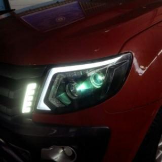 Lắp đèn nguyên bộ và bi gầm Ranger  2015