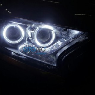 Ford Ranger 2016 độ bi-xenon, vòng Angel eyes
