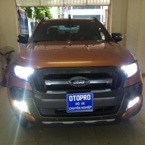 Ford Ranger độ bóng xenon Osram, LED A8, Xenon