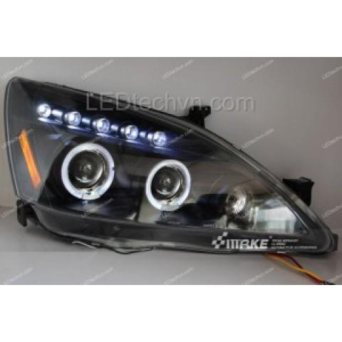 Đèn pha độ LED nguyên bộ cho xe Honda Accord 2.4 đời 04-07 mẫu 1