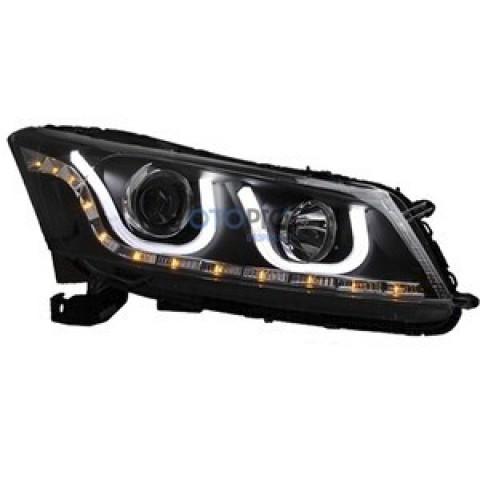 Đèn pha độ LED cho xe Honda Accord 2008-2012 mẫu BMW chữ U