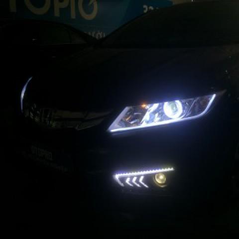Honda City 2017 Độ Bi Q5 – Led mí Fonda