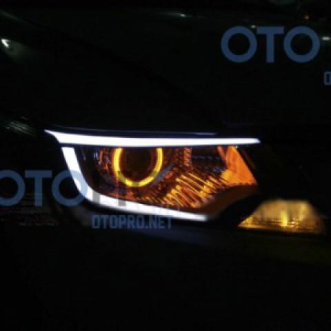 Độ đèn bi xenon, angel eyes, LED mí khối xe City 2012