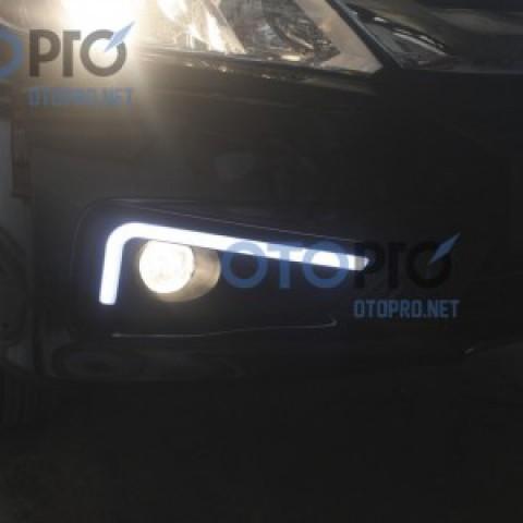 Ốp đèn gầm daylight độ mẫu LED khối cho xe City 2014