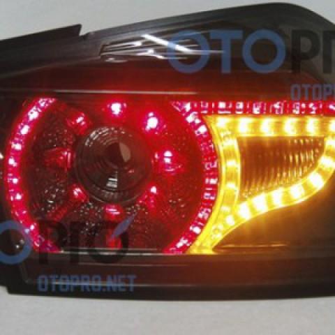 Đèn hậu độ LED nguyên bộ cho xe Honda City mầu khói