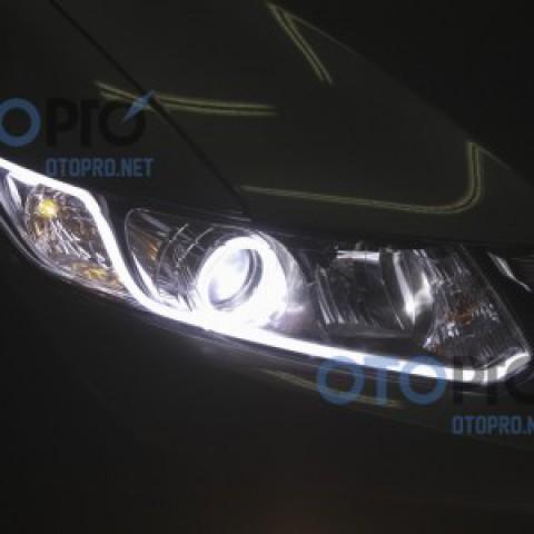 Độ đèn pha bi xenon, angel eyes, LED mí khối xe Civic 2015