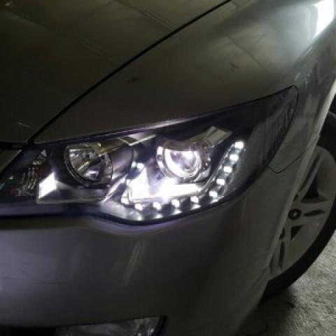 Đèn pha độ LED nguyên bộ cho Civic-2009 mẫu LED hạt