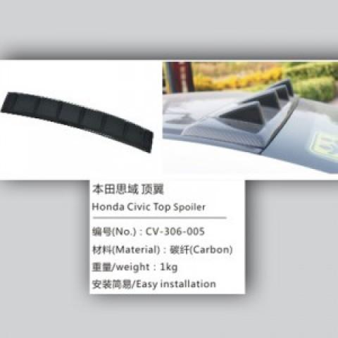 Đuôi gió Carbon trên kính hậu Civic