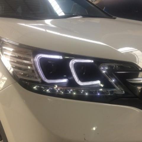 Honda CRV 2014 thay đèn nguyên bộ