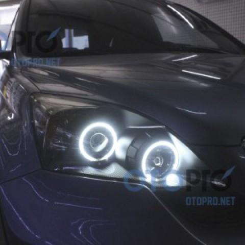 Độ vòng angel eyes LED cho xe Honda CRV 2012