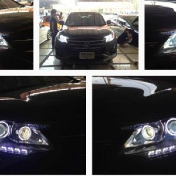 Độ đèn pha CR-V 2013