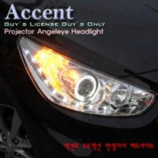 Đèn pha LED nguyên bộ cả vỏ cho xe Hyundai Accent 2011